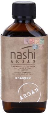 Nashi Argan зволожуючий шампунь з аргановою та лляною олійками для всіх типів волосся