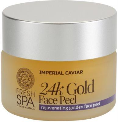 Natura Siberica Fresh Spa Imperial Caviar Exfoliant facial de intinerire cu aur de 24 de karate