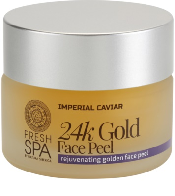 Natura Siberica Fresh Spa Imperial Caviar exfoliante facial rejuvenecedor con oro de 24 quilates