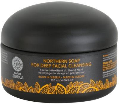 Natura Siberica Wild Herbs and Flowers детоксикиращ сапун за лице за дълбоко почистване