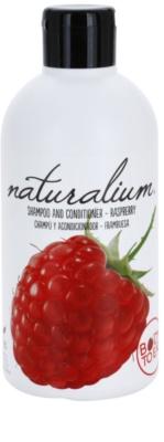 Naturalium Fruit Pleasure Raspberry champú y acondicionador