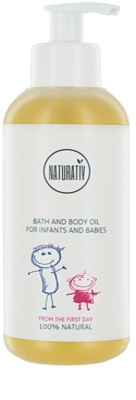 Naturativ Baby aceite corporal para baño para bebé lactante