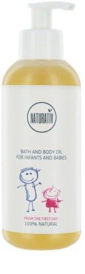 Naturativ Baby fürdő és testápoló olaj gyermekeknek születéstől kezdődően