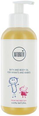 Naturativ Baby олио за баня и тяло за деца от раждането им