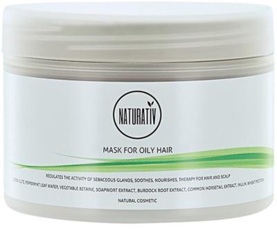 Naturativ Hair Care Getleness,Shine&Strength bahenní maska pro mastné vlasy