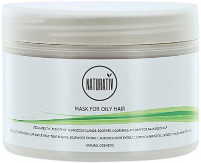 Naturativ Hair Care Getleness,Shine&Strength iszapos maszk zsíros hajra