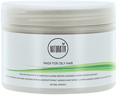 Naturativ Hair Care Getleness,Shine&Strength mascarilla de barro para cabello graso
