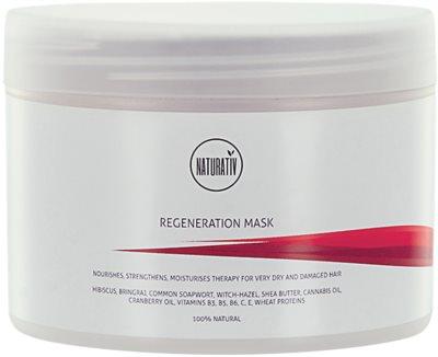 Naturativ Hair Care Regeneration maseczka  do wzmocnienia włosów i nadania im większego połysku