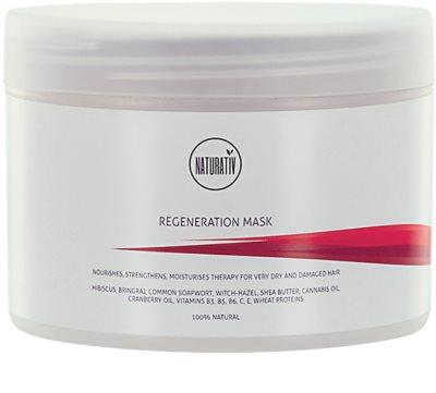 Naturativ Hair Care Regeneration Maske für mehr Glanz und Festigkeit der Haare
