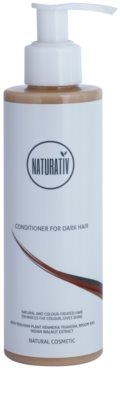 Naturativ Hair Care Dark balzam za intenzivnost barve las