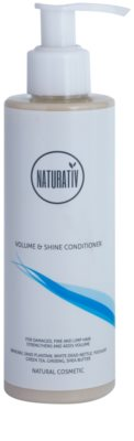 Naturativ Hair Care Volume&Shine condicionador para cabelo fino e sem volume