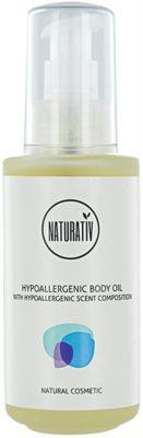 Naturativ Body Care Hypoallergenic test és masszázsolaj hidratáló hatással