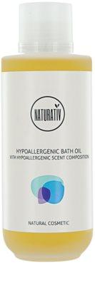 Naturativ Body Care Hypoallergenic óleo de banho e duche com efeito hidratante