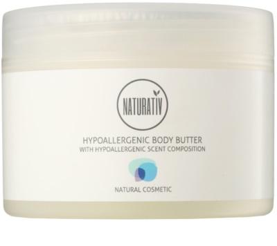 Naturativ Body Care Hypoallergenic masło do ciała o działaniu nawilżającym i kojącym do skóry suchej i bardzo suchej