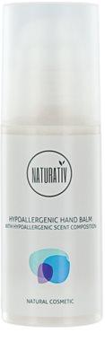Naturativ Body Care Hypoallergenic bálsamo nutritivo de mãos para pele seca a muito seca