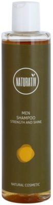 Naturativ Men szampon do włosów o dzłałaniu nawilżającym