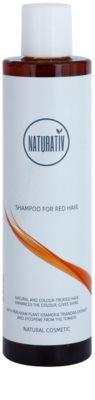 Naturativ Hair Care Red sampon delicat pentru a evidentia culoarea parului
