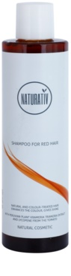 Naturativ Hair Care Red нежен шампоан за подчертаване на цвета на косата