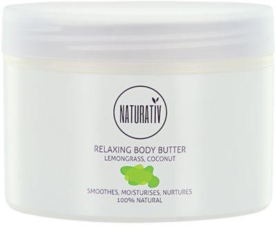 Naturativ Body Care Relaxing masło do ciała o działaniu wygładzającym