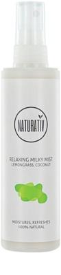Naturativ Body Care Relaxing milchiger Sprühnebel zur Feuchtigkeitsversorgung und zum Glätten der Haut