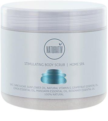 Naturativ Body Care Home Spa exfoliant de stimulare  pentru corp  cu sare si zahar