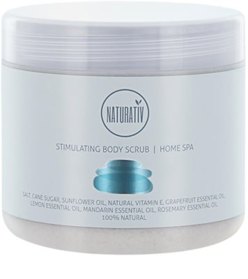 Naturativ Body Care Home Spa exfoliante corporal estimulante con sal y azúcar