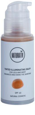 Naturativ Sun Care Sun Fun bálsamo tonificado iluminador para pés e corpo 1