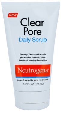 Neutrogena Clear Pore exfoliante facial  anti-acné