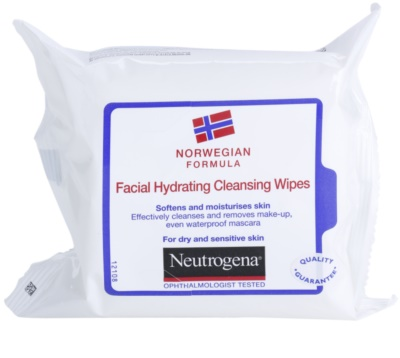 Neutrogena Face Care toallitas limpiadoras para pieles secas y sensibles