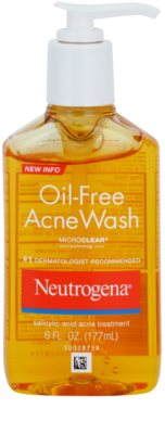 Neutrogena Oil-Free Acne Wash gel de limpeza gel cremoso matificante