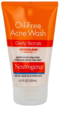 Neutrogena Oil-Free Acne Wash почистващ пилинг против пъпки