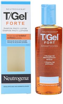 Neutrogena T/Gel Forte šampon proti lupům pro suchou a svědící pokožku hlavy 1