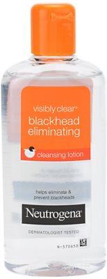 Neutrogena Visibly Clear Blackhead Eliminating bőrtisztító víz a fekete pontok ellen