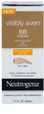 Neutrogena Visibly Even crema hidratanta BB SPF 30 1