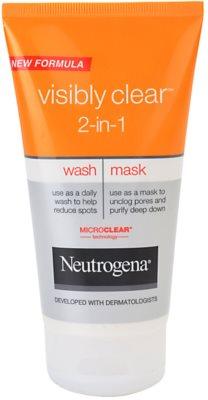 Neutrogena Visibly Clear 2-in-1 почистваща емулсия и маска 2 в 1
