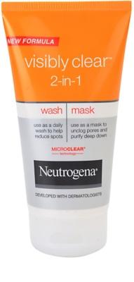 Neutrogena Visibly Clear 2-in-1 emulsie pentru curatare si masca 2 in 1