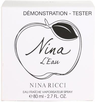 Nina Ricci Nina L'Eau Eau Fraiche eau de toilette teszter nőknek 3