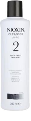 Nioxin System 2 почистващ шампоан за значително оредяване на финна природна коса