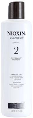 Nioxin System 2 champú limpiador para pérdida excesiva de cabello fino