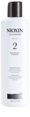 Nioxin System 2 čistiaci šampón na výrazné rednutie prirodzene jemných vlasov