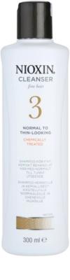 Nioxin System 3 очищуючий шампунь для тонкого хімічно пошкодженого волосся з  тенденцією до випадіння