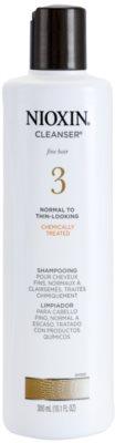 Nioxin System 3 tisztító sampon vegyileg kezelt finom haj kezdeti enyhe elvékonyodása ellen