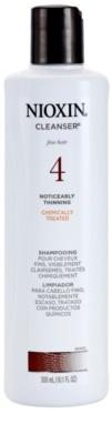 Nioxin System 4 tisztító sampon vegyileg kezelt finom haj jelentős ritkulása ellen