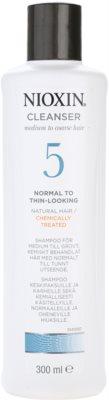 Nioxin System 5 das Reinigungsshampoo für leichtes ausdünnen von normalem bis kräftigen natürlichen und chemisch behandelten Haaren
