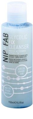 NIP+FAB Skin Glycolic Fix schaumige Emulsion zum Tiefenreinigen und Abschminken der Haut