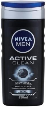 Nivea Men Active Clean gel za prhanje za moške