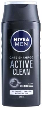 Nivea Men Active Clean шампунь з вугіллям