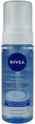 Nivea Aqua Effect osvežilna čistilna pena za obraz za normalno do mešano kožo