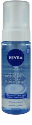 Nivea Aqua Effect освежаваща почистваща пяна за лице за нормална към смесена кожа