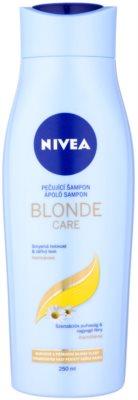 Nivea Brilliant Blonde champú para cabello rubio